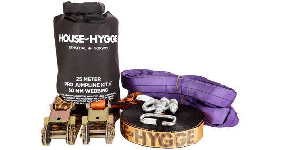House of Hygge 25 meter PRO Slakkline Jumpkit